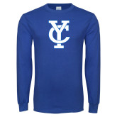 Royal Long Sleeve T Shirt-Interlocking YC