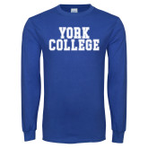 Royal Long Sleeve T Shirt-York College