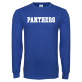 Royal Long Sleeve T Shirt-Panthers