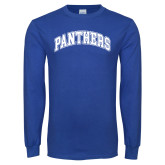 Royal Long Sleeve T Shirt-Panthers Arched