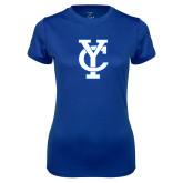 Ladies Syntrel Performance Royal Tee-Interlocking YC