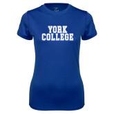 Ladies Syntrel Performance Royal Tee-York College