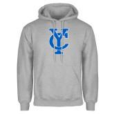 Grey Fleece Hoodie-Interlocking YC