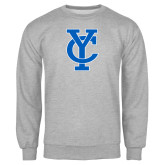 Grey Fleece Crew-Interlocking YC