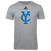 Adidas Sport Grey Logo T Shirt-Interlocking YC