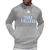 Adidas Grey Team Issue Hoodie-Interlocking YC
