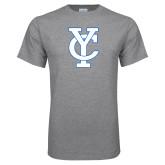 Grey T Shirt-Interlocking YC