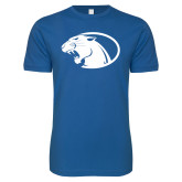 Next Level SoftStyle Royal T Shirt-Panther Head