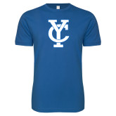 Next Level SoftStyle Royal T Shirt-Interlocking YC