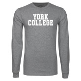 Grey Long Sleeve T Shirt-York College