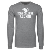 Grey Long Sleeve T Shirt-Alumni