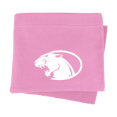 Pink Sweatshirt Blanket-Panther Head