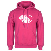 Fuchsia Fleece Hoodie-Panther Head