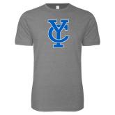 Next Level SoftStyle Heather Grey T Shirt-Interlocking YC
