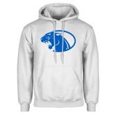 White Fleece Hoodie-Panther Head