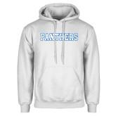 White Fleece Hoodie-Panthers
