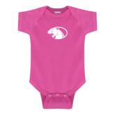 Fuchsia Infant Onesie-Panther Head