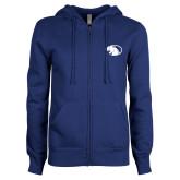 ENZA Ladies Royal Fleece Full Zip Hoodie-Panther Head