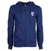 ENZA Ladies Royal Fleece Full Zip Hoodie-Interlocking YC