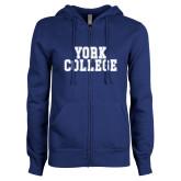 ENZA Ladies Royal Fleece Full Zip Hoodie-York College