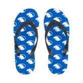 Ladies Full Color Flip Flops-Panther Head