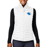 Columbia Lake 22 Ladies White Vest-Panther Head