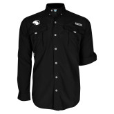 Columbia Bahama II Black Long Sleeve Shirt-Panther Head