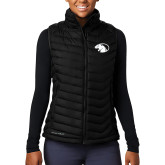 Columbia Lake 22 Ladies Black Vest-Panther Head
