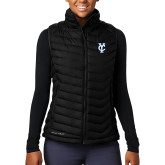 Columbia Lake 22 Ladies Black Vest-Interlocking YC