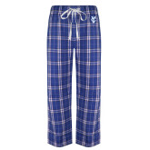 Royal/White Flannel Pajama Pant-Interlocking YC