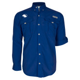 Columbia Bahama II Royal Long Sleeve Shirt-Panther Head