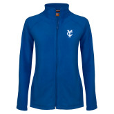 Ladies Fleece Full Zip Royal Jacket-Interlocking YC
