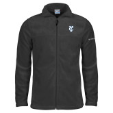 Columbia Full Zip Charcoal Fleece Jacket-Interlocking YC