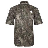 Camo Short Sleeve Performance Fishing Shirt-Panther Head