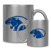 Full Color Silver Metallic Mug 11oz-Panther Head