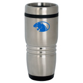 Rolling Ridges Silver Stainless Tumbler 16oz-Panther Head