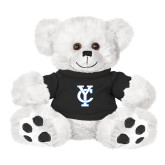 Plush Big Paw 8 1/2 inch White Bear w/Black Shirt-Interlocking YC