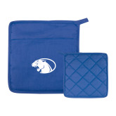 Quilted Canvas Royal Pot Holder-Panther Head