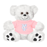 Plush Big Paw 8 1/2 inch White Bear w/Pink Shirt-Interlocking YC