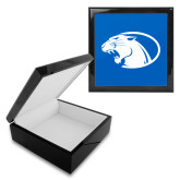 Ebony Black Accessory Box With 6 x 6 Tile-Panther Head