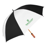 62 Inch Black/White Vented Umbrella-Panther Head