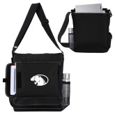 Impact Vertical Black Computer Messenger Bag-Panther Head