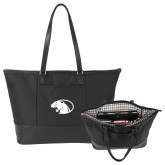 Stella Black Computer Tote-Panther Head
