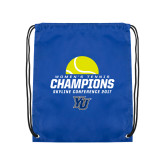Royal Drawstring Backpack-2017 Womens Tennis Skyline Conference Champions