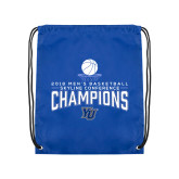 Royal Drawstring Backpack-2018 Mens Basketball Champions