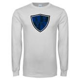 White Long Sleeve T Shirt-Shield
