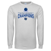 White Long Sleeve T Shirt-2018 Mens Basketball Champions