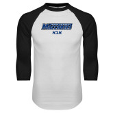 White/Black Raglan Baseball T Shirt-Abba