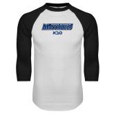 White/Black Raglan Baseball T Shirt-Saba