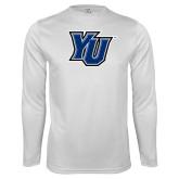 Performance White Longsleeve Shirt-YU